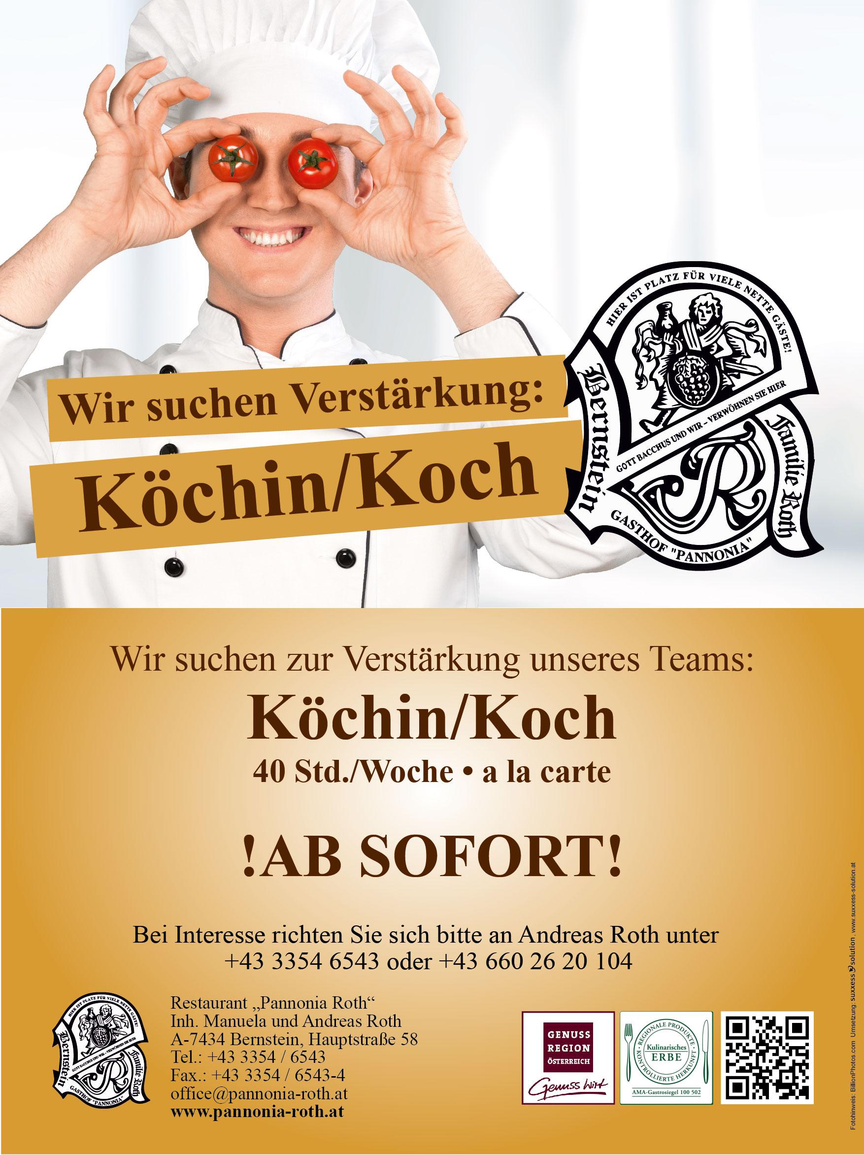 Jobinserat Köchin/Koch